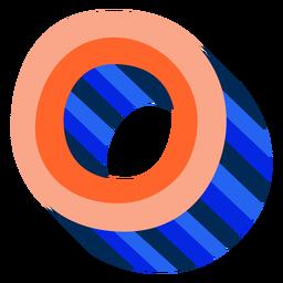 Letra 3d colorida o