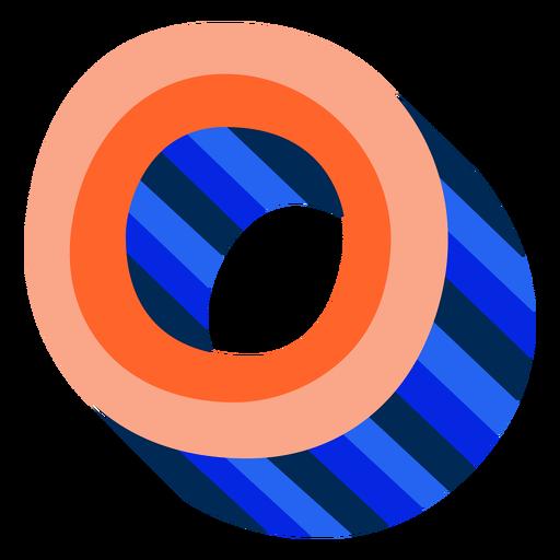 Letra 3d colorida o Transparent PNG