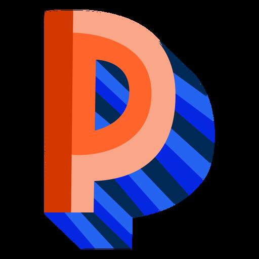 Letra 3d colorida p Transparent PNG