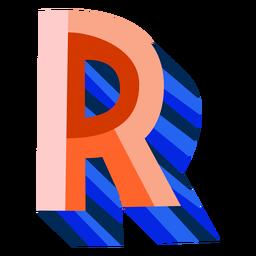 Letra 3d colorida r