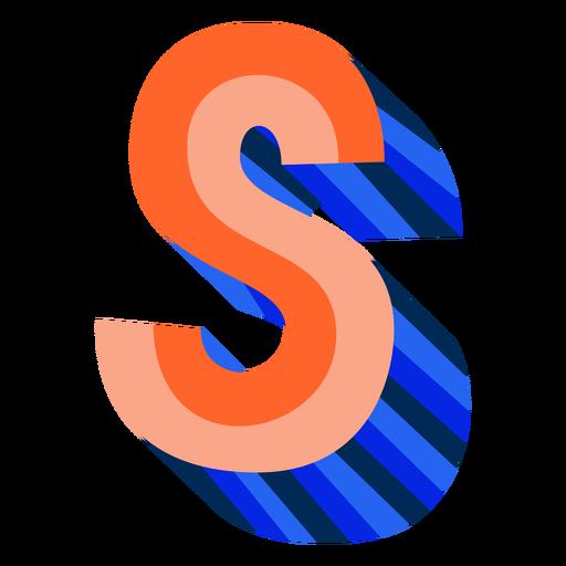 Letra 3d colorida s Transparent PNG