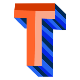 Colorful 3d letter t