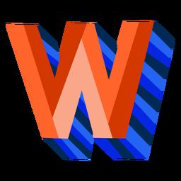 Colorido 3d letra w