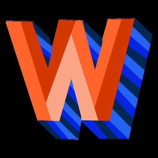 Colorful 3d letter w