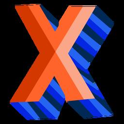 Colorido 3d letra x