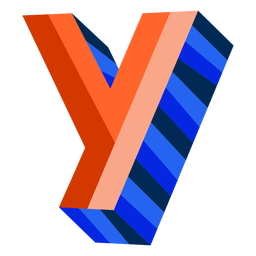 Colorful 3d letter y