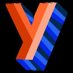 Letra 3d colorida y