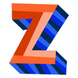 Colorful 3d letter z