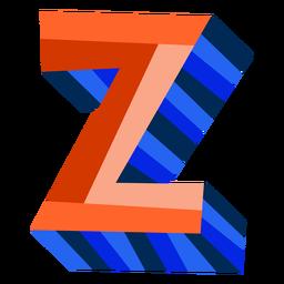 Colorido 3d letra z