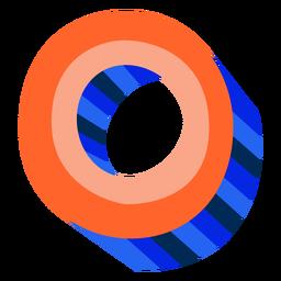 Colorido 3d número 0