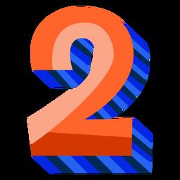 Número 3d colorido 2