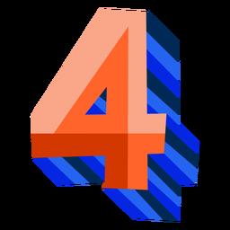 Colorido 3d número 4