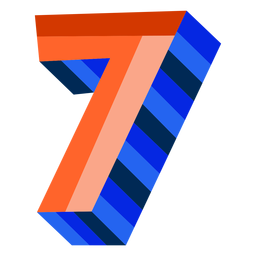 Colorful 3d number 7