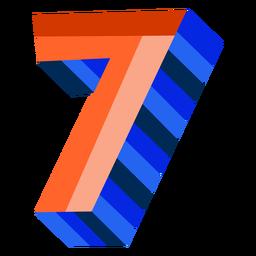 Colorido 3d número 7