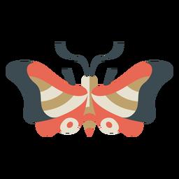 Geometrische Ebene des bunten Schmetterlinges