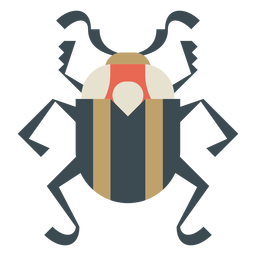 Colorful geometric beetle flat