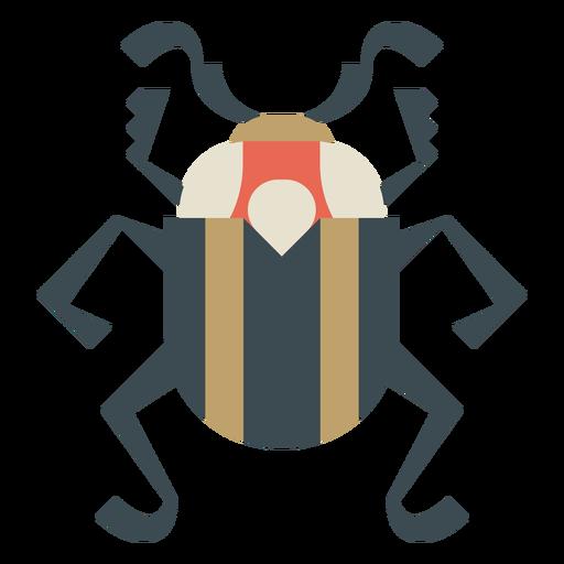 Colorful geometric beetle flat