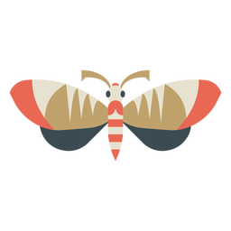 Colorful geometric butterfly flat