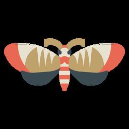 Mariposa geométrica colorida plana