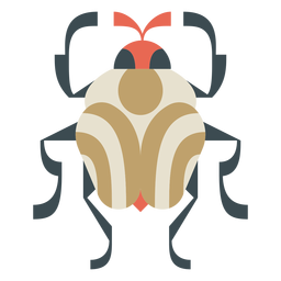 Colorful round beetle geometric flat