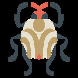 Escarabajo redondo colorido geométrico plano