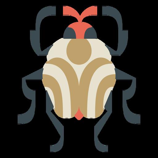 Colorful round beetle geometric flat