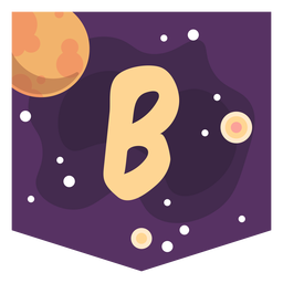 Colorful space letter b flat