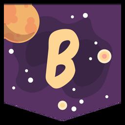 Espacio colorido letra b plana
