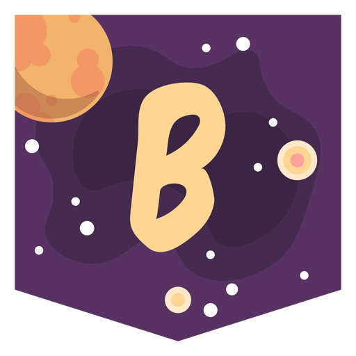 Colorful space letter b flat Transparent PNG