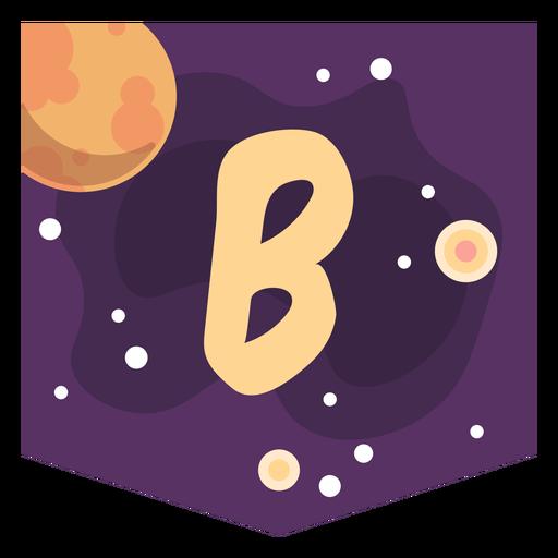 Espacio colorido letra b plana Transparent PNG