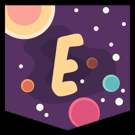 Letra de espacio colorido e plano Transparent PNG