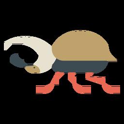 Escarabajo ciervo colorido geométrico plano