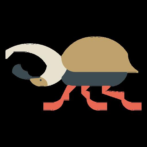 Colorful stag beetle geometric flat