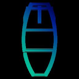 Carrera de gradiente de tambor conga