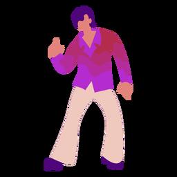 Disco 70er Jahre bewegen sich flach