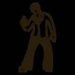 Disco dance mueve trazo de los 70