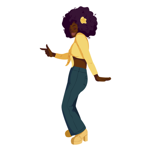 Disco move 70s character
