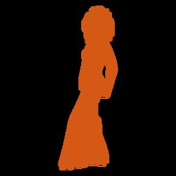 Disco mover silhueta laranja