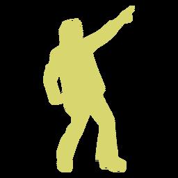 Disco bewegen gelbe Silhouette