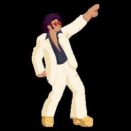 Personaje de movimiento disco