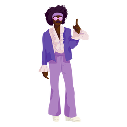Disco purple outfit 70s character