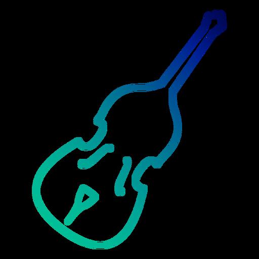Double bass gradient stroke