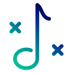 Double sharp note gradient stroke