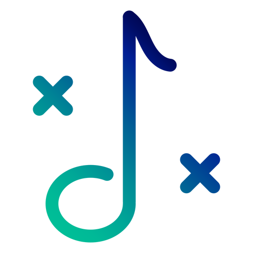 Trazo de gradiente de nota aguda doble Transparent PNG