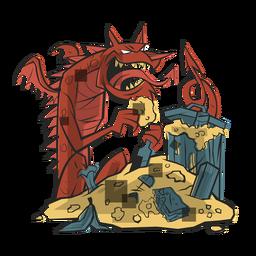 Ilustração de lixo de dragão