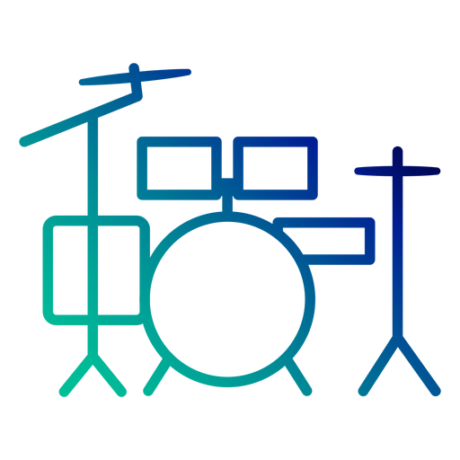 Drum set gradient stroke