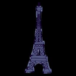 Curso colorido da torre Eifel
