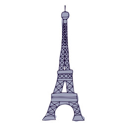 Eifel tower colorful stroke