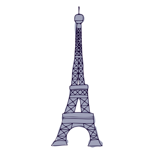 Torre Eifel trazo colorido Transparent PNG