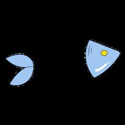 Ilustração de osso de peixe